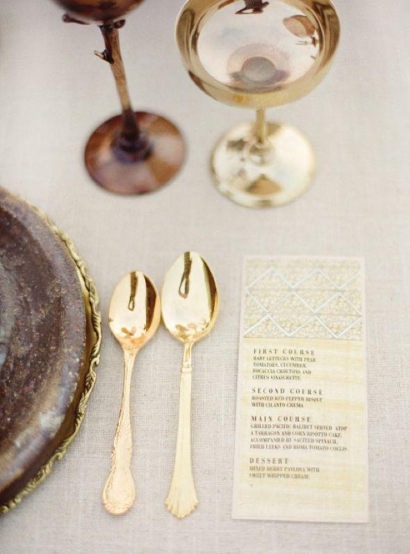 golden silverware - gorgeous