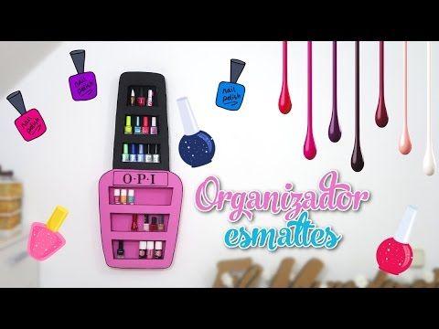 organizador para tus esmaltes de uñas con diseño original OPI - manualidades para decorar - YouTube