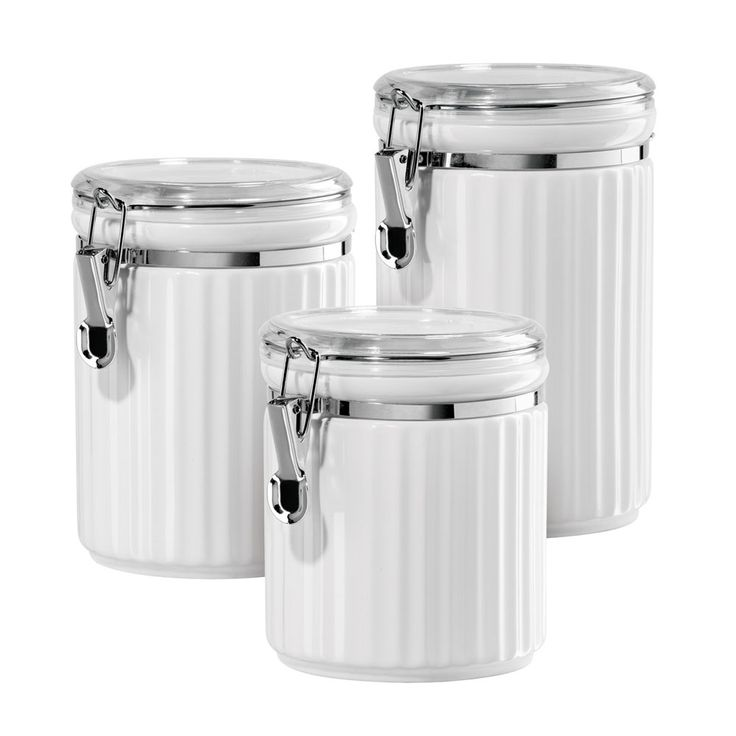 cannister set with lids spice jars and canisters