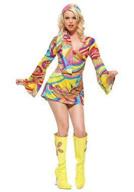 Disfraz Casero De Hippie Para Mujer  1