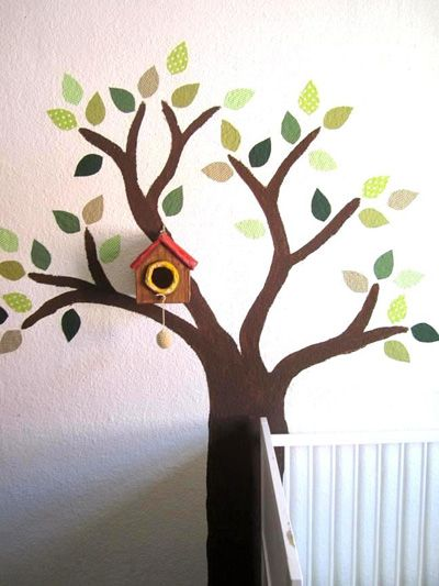 Peinture murale arbre id e d co chambre d 39 enfant pour for Peinture murale enfant