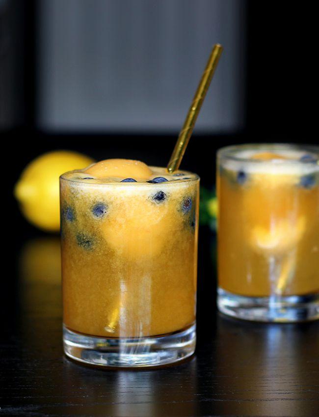 Mango Lemon Prosecco Cocktails