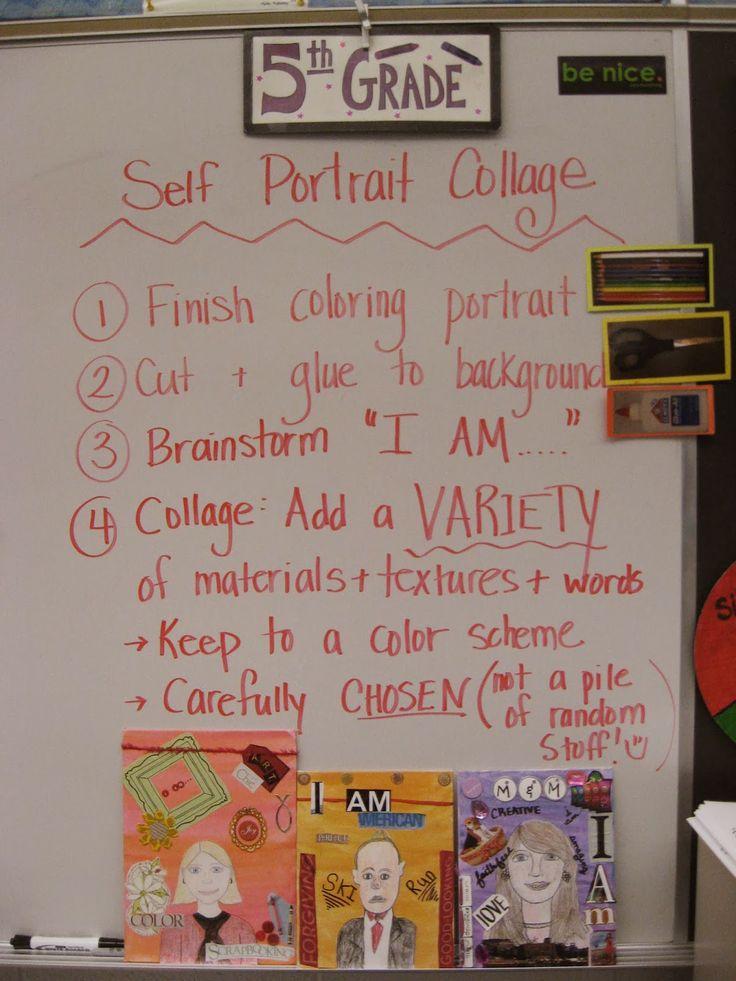 Jamestown Elementary Art Blog: 5th Grade Self Portrait Collage