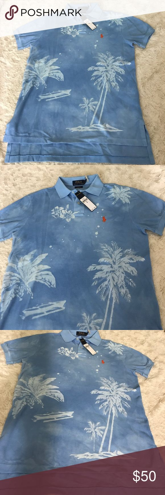 Polo Ralph Lauren Mesh Cotton Shirt $98 Sz Small Size Small New with tags  My prices are firm and fair 100% Mesh Cotton Blue and White Color Rare Shirt Pattern  I guarantee authentication of this shirt.  I can make you a bundle to save money on shipping cost .So please check my other items.  Code : GRE Polo by Ralph Lauren Shirts Polos