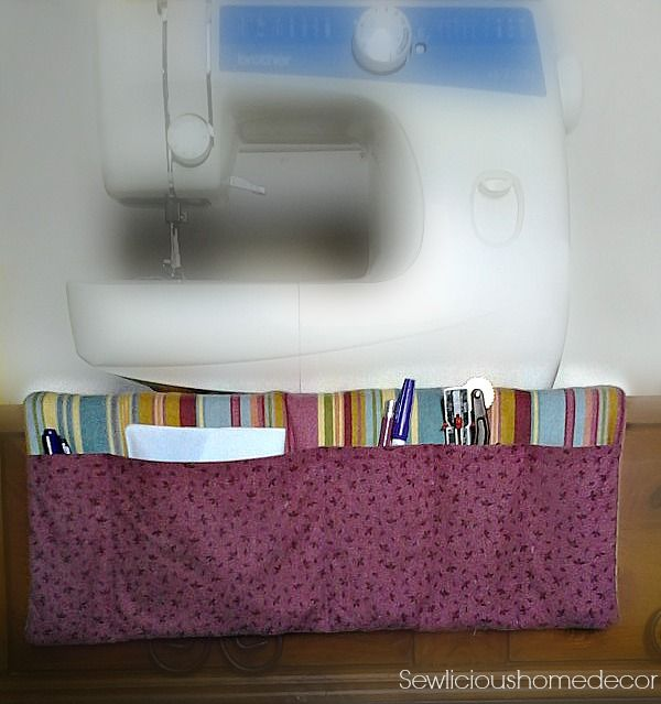 Easy #Sewing #Machine #Organizer East #Tutorial. Fits under your sewing machine.