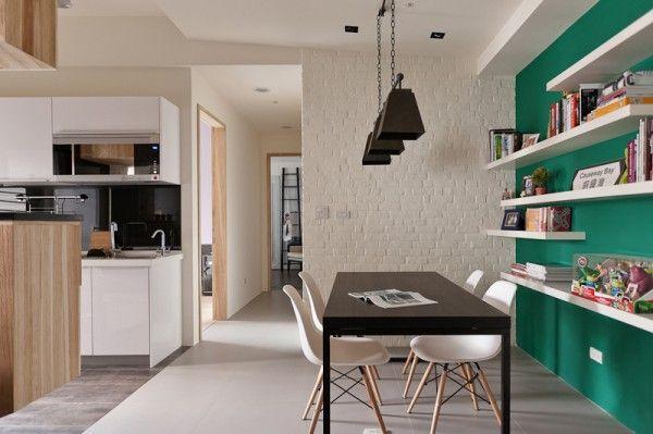 Apartment Design hellen dunklen Nuancen leuchter tisch stuhl idee - einrichtungstipps junggesellenwohnung