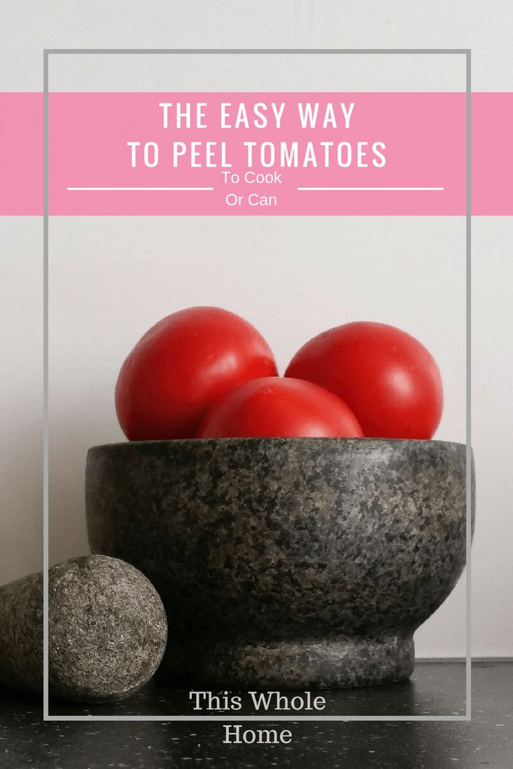 How to peel tomatoes when you have MILLIONS of them!