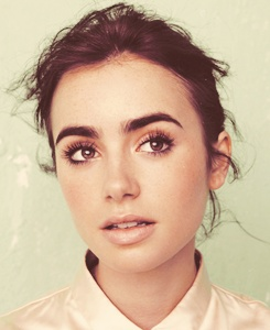 Gorgeous makeup on a gorgeous face! Lilly Collins.