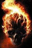 Brennende Hodeskalle iPhone Bakgrunnsbilde