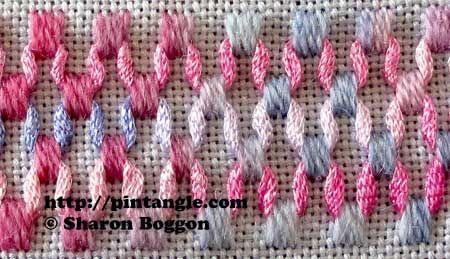 Wave Stitch - try w/ ribbons