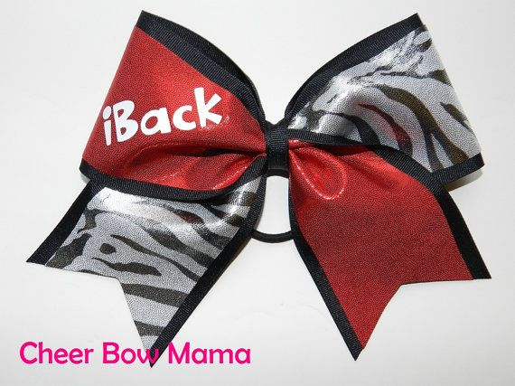 Iback cheer bow! I am a back for my cheer Team and it just as hard as a base!