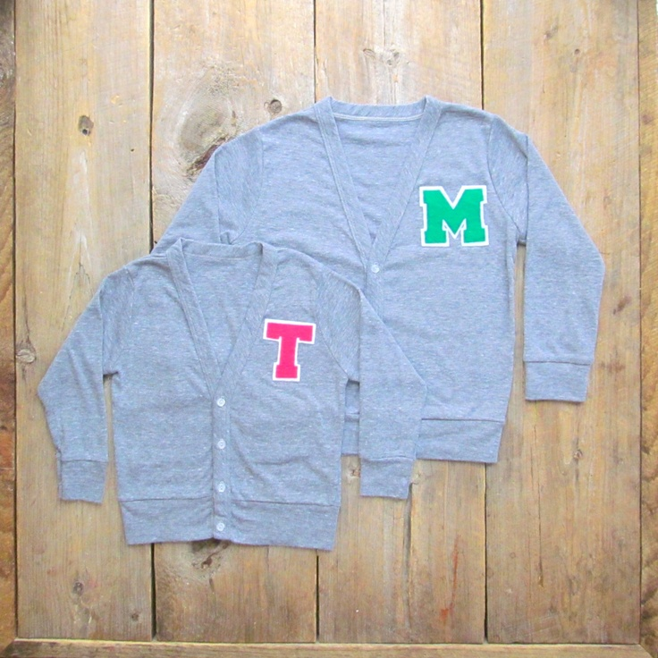 Personalized Toddler Letter Cardigan, Monogrammed Sweater 2T, 4T & 6. $38.00, via Etsy.