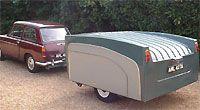 Austin A40 with classic caravan