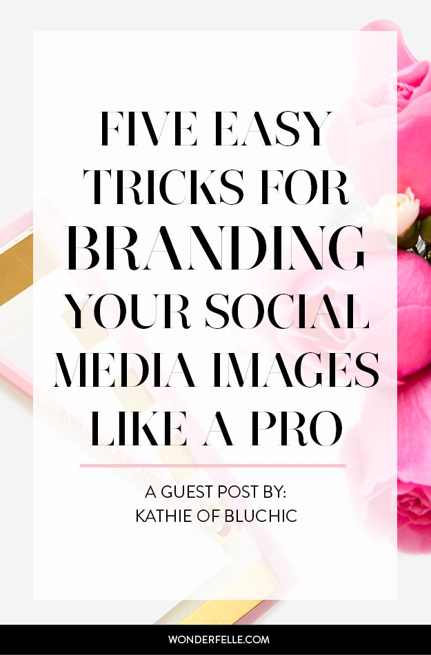 Expert tips on branding your social media images like a pro from Kathie of Bluchic - click through to learn how to create cohesive social media graphics to build your brand.