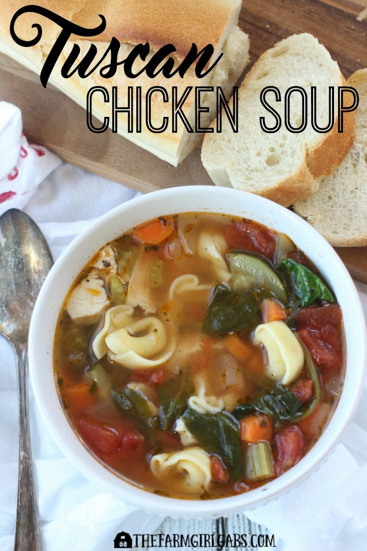 This hearty Tuscan Chicken Soup is the perfect way…Edit description