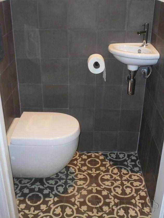 Cementtiles Toilet - Gris 03 Taupe - Egal Taupe S7039 - Project van Designtegels.nl