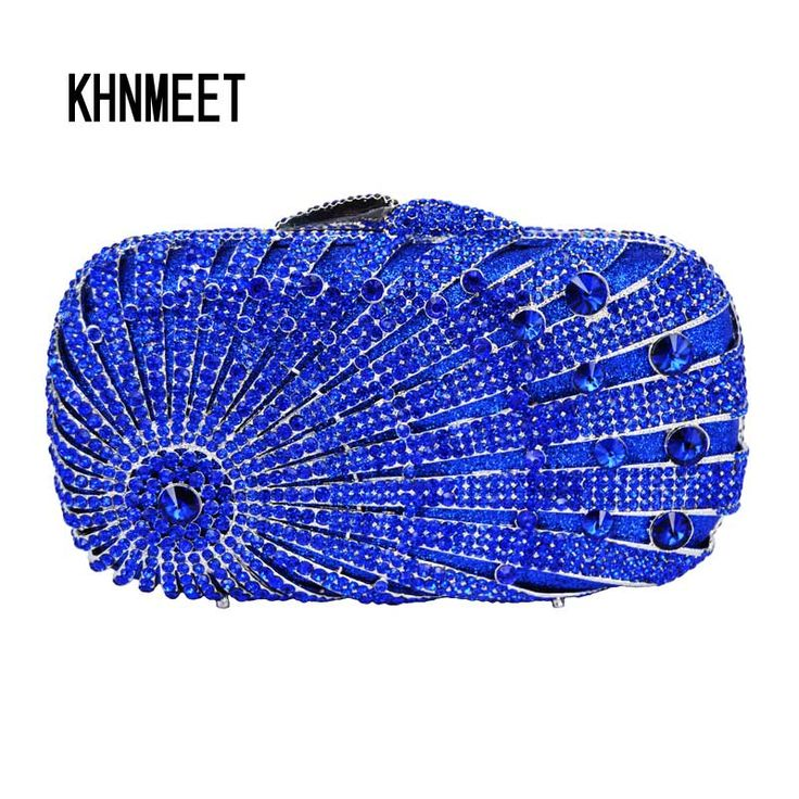 Aliexpress.com : Buy LaiSC New designer luxury crystal blue clutch women party bags Bling pochette ladies royal blue evening bag Dinner bag SC144 from Reliable bag tree suppliers on KHNMEET Factory Store