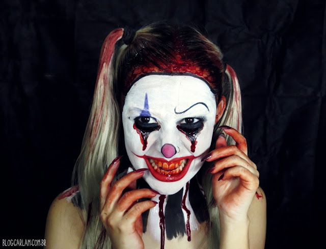 Blog Carla M.: Evil Clown Makeup Tutorial - Palhaço Assasino - Ha...
