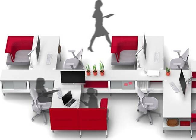 Elegant Your Office Is Where You Are: Herman Milleru0027s Public Office Landscape By  Yves Behar