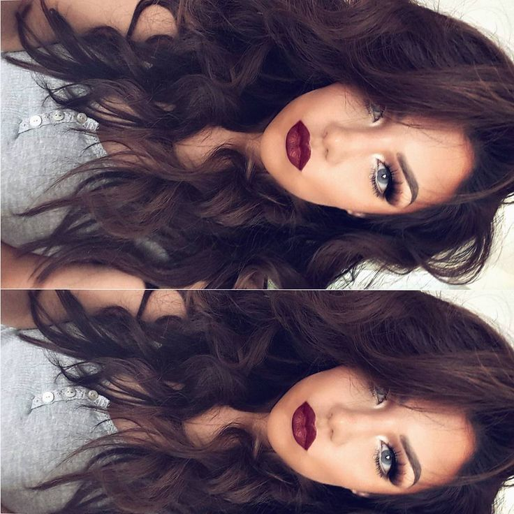 """""""Saturday ✌ Lipsticks in #vivaglam I & #ArianaGrande Hair extensions in Dark Chocolate by @myfantasyhair Colossal Collection"""