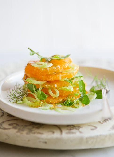 Orange & Fennel Salad with toasted Fennel Vinaigrette | White on Rice Couple