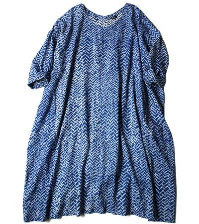 45R Indigo Print Dress: Lady's