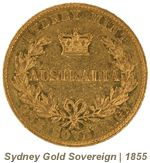 Image showing the back of Australia's first gold sovereign
