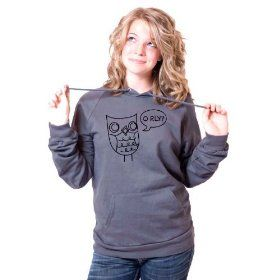 O Rly Owl American Apparel Pullover Hoodie $38.00