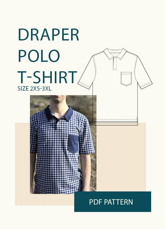 e167fc9e1503 Polo shirt Sewing Pattern