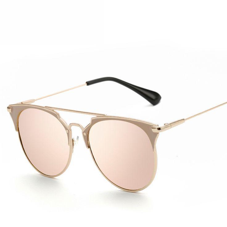 Retro Männliche Und Weibliche Polarisierte Sonnenbrille Metallrahmen Sonnenbrille Frauen Brille Transparentes Rosa Quecksilber qRPBv