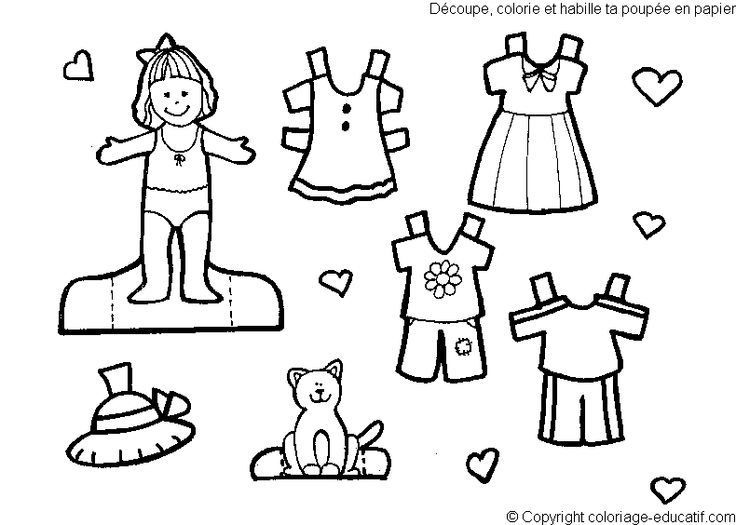 KIDS COLORING PAGES PAPER DOLL