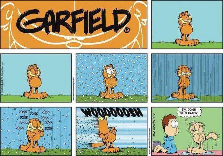 Garfield lives in Utah Garfield comics, Comics, Garfield