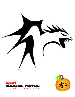 dragon cutout template - 17 best images about dragon carved pumpkins on pinterest