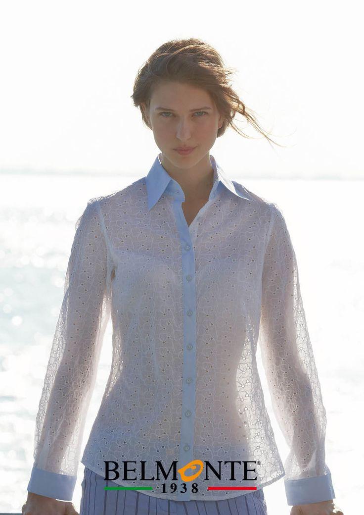 Pregiate camicie in pizzo per la primavera. Beautiful lace shirts for this spring. #belmonte1938