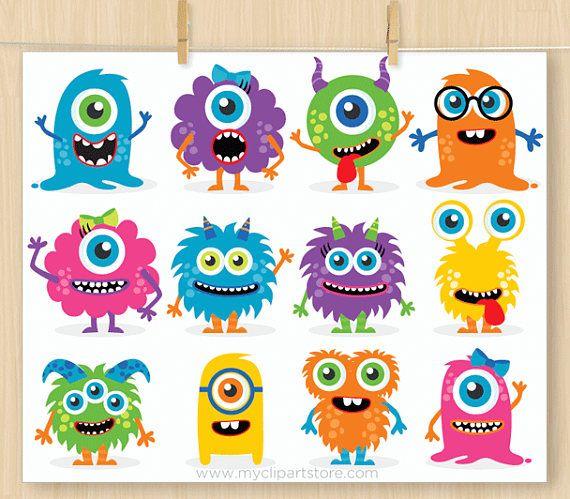 Cute Monster Clipart Monster Birthday Card Baby Monster Clipart Monster Clip Art Monster Svg Monster Stickers Cute Monsters Monster Clipart Baby Clip Art