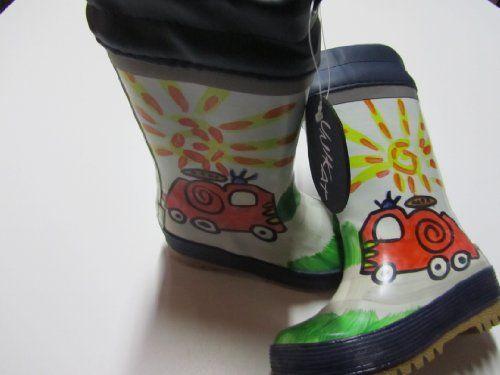 MaxiMo Kindergummistiefel, Babygummistiefel, Naturgummi mit 100% Cottonfutter, dunkelmarine mit Feuerwehrmotiv, jeder Stiefel ein Unikat, Gr. 23 - http://on-line-kaufen.de/maximo/maximo-kindergummistiefel-babygummistiefel-gr