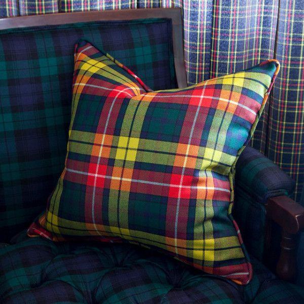 Buchanan Tartan Pillow - new on Scot Meacham Wood Home.