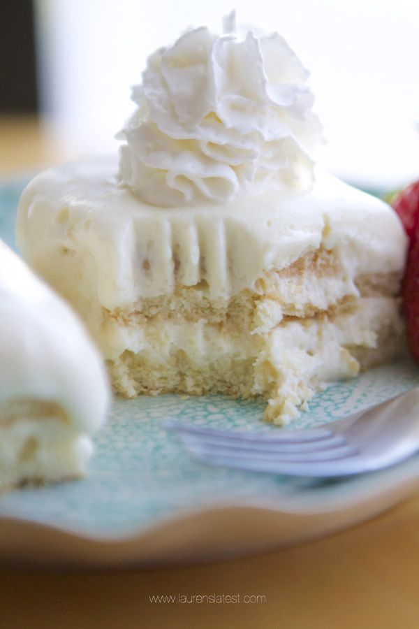 Lemon No-Bake Ice Box Cake...the best dessert for summer! Easiest recipe in the world.