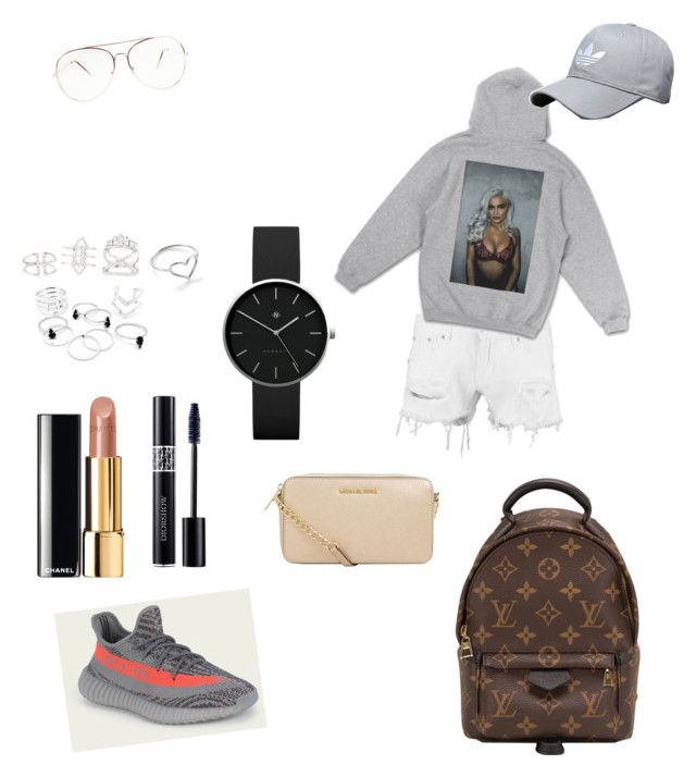 """OOTD"" by madisonkiss on Polyvore featuring Boohoo, Charlotte Russe, Jordan Askill, Chanel, Christian Dior, Louis Vuitton, MICHAEL Michael Kors and Newgate"