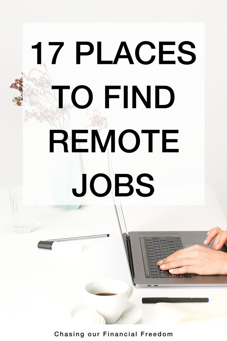 Remote Jobs Where To Find Them? Jobs for teens, Work