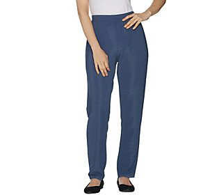 Susan Graver Essentials Lustra Knit Regular Skinny Pants