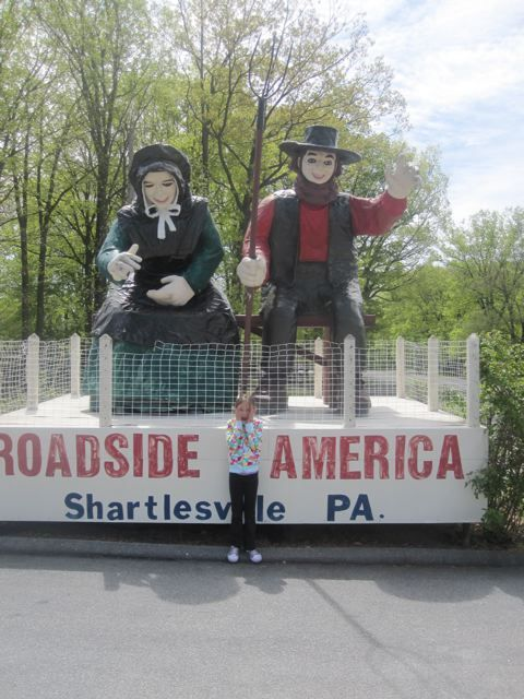 Don't be afraid of the giant Amish couple - Roadside America is my FAVORITE ROADSIDE ATTRACTION !! Shartlesville, PA