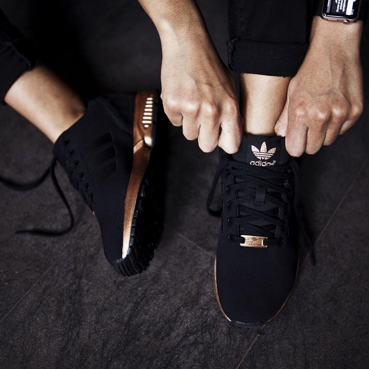 Adidas Womens Zx Flux Core Black/Copper
