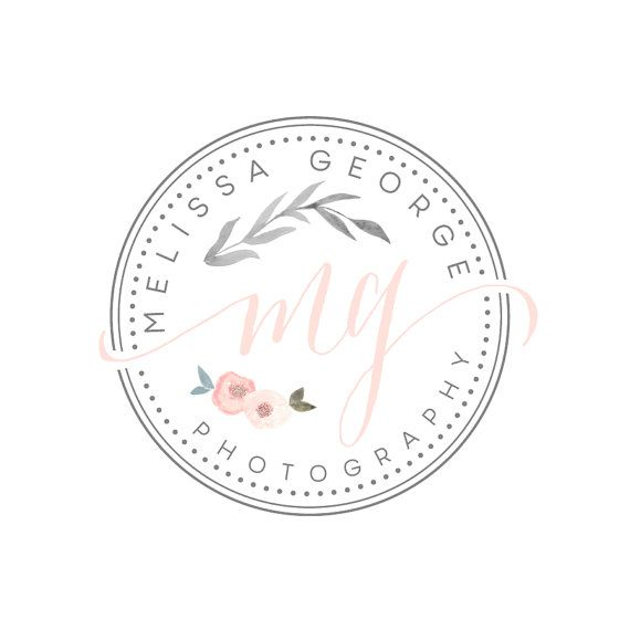 Premade Handpainted watercolor flower Logo -  Photography Logo and Watermark Design - Photography or Boutique Logo  - Business Branding