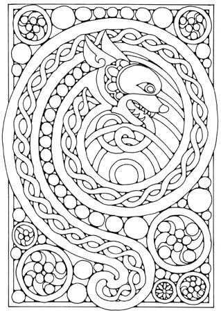 awesome celtic dragon coloring page bjd imp
