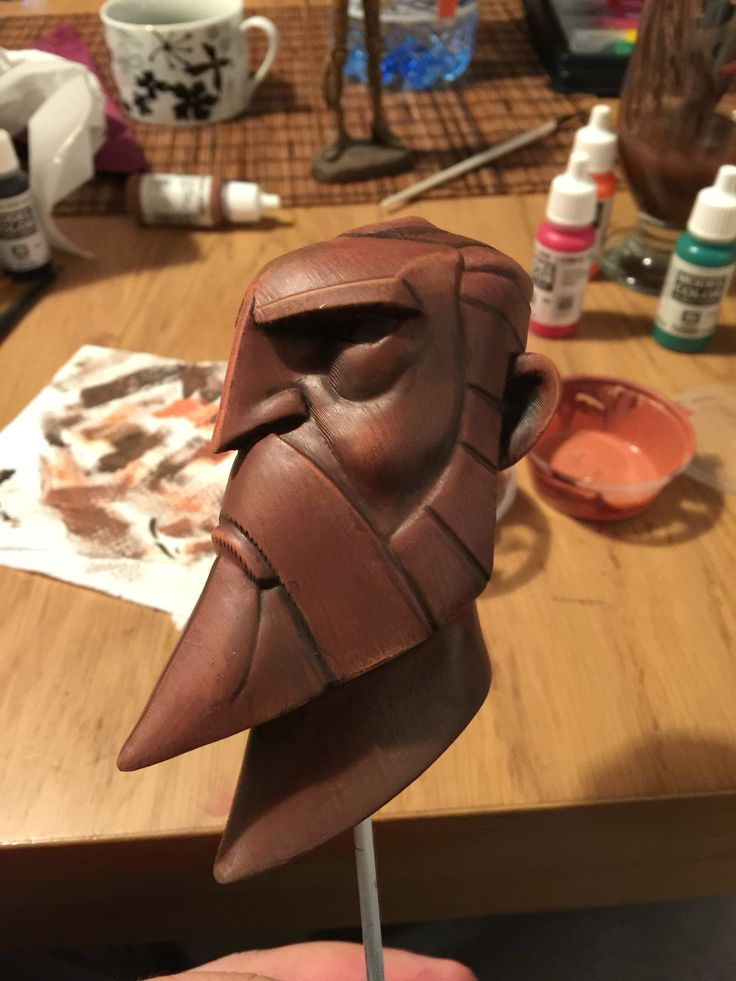Hand painted 3D print of a study sculpt that I sculpted in ZBrush based on the amazing work of Darren E Marshall.