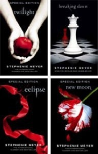 Twilight....I held out for so long saying I wouldn't like these books and I wasn't going to read them or watch the movies....but after the 2nd movie came out I got sucked in....and they were captivating....I couldn't put them down and read all of them in like 2 weeks or so
