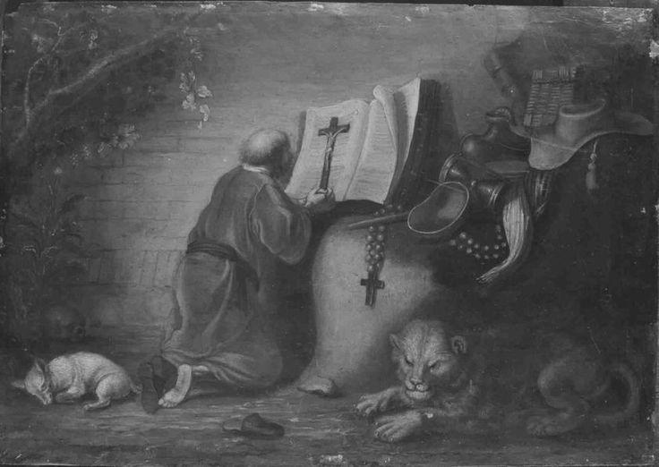 Navolger van Gerrit Dou: de heilige Hieronymus. 1662. Bayerische Staatsgemäldesammlungen - Alte Pinakothek München
