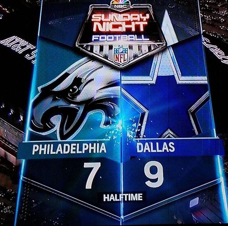 #Halftime #SundayNightFootball #Eagles 7 vs #Cowboys 9 . . . . . @DC_DemBoyz #PHIvsDAL #AmericasTeam #RespectTheStar #TrueBlue #FootballSundays #SundayFootball #DallasCowboys #CowboysNation #NFLFootball #HowBoutThemCowboys #NFL #WeDemBoyz #DC4L #FinishTheFight #PhiladelphiaEagles #EaglesNation #DC_Demboyz . . . . . #Dallas up at half.