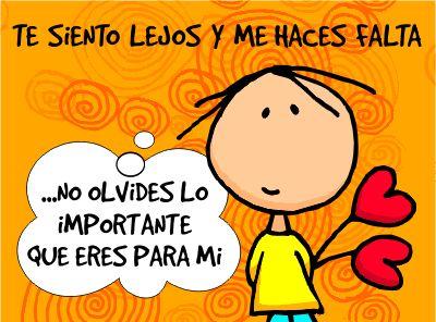 Te siento lejos y me haces falta #Frases_de_distancia